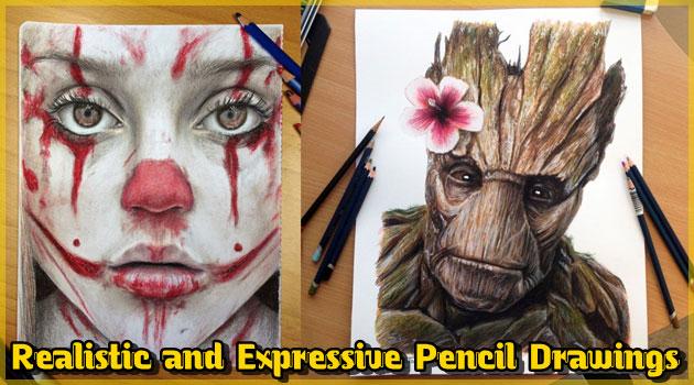 色鉛筆で描いたリアルで表情豊かなデッサン作品集