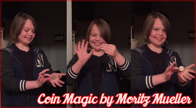 ドイツの少年マジシャンが魅せた自由自在にコインを操るマジック!