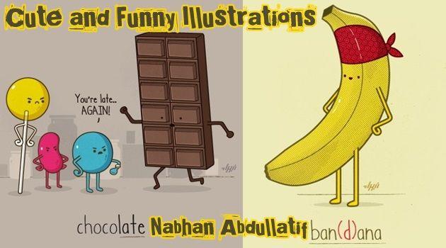 ジョークの世界で暮らすゆるカワなキャラクターたちのイラスト!