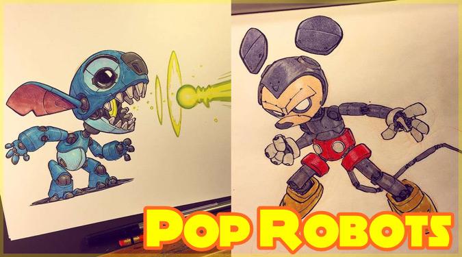 もしもポップカルチャーのキャラクターたちがロボットだったら?