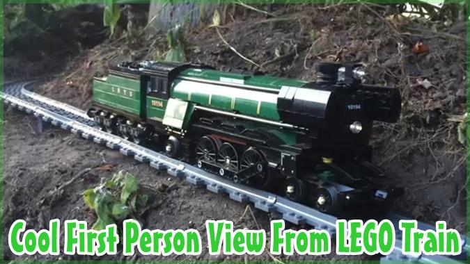 家の中から外の景色まで!レゴの列車から見る一人称視点の映像!