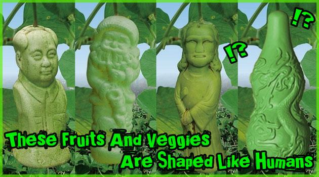 中国で作られる奇妙な野菜と果物。毛沢東やサンタさんまで登場!