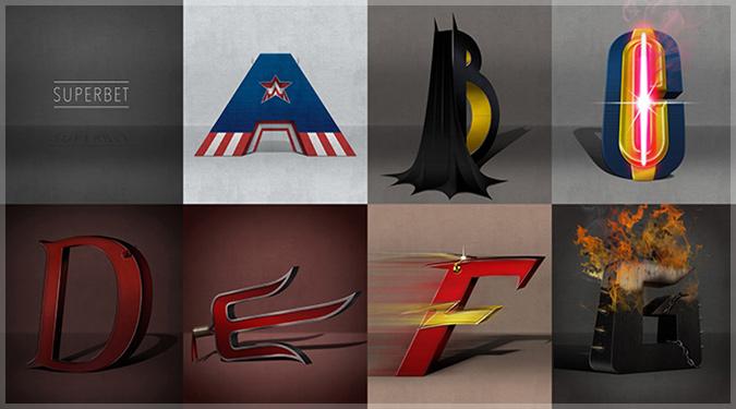 スーパーヒーローとスーパーヴィランをテーマにしたアルファベット作品