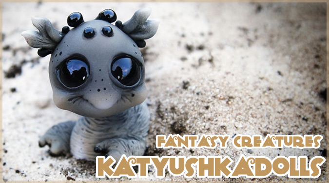 ファンタジーの世界の生き物たちを再現した愛らしい人形アート!