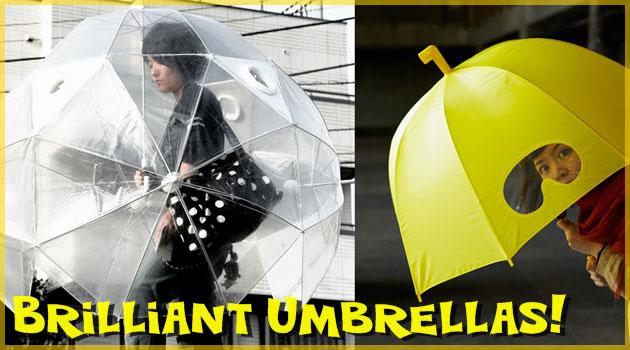 雨の日を楽しく過ごすためのユニークな傘シリーズ!