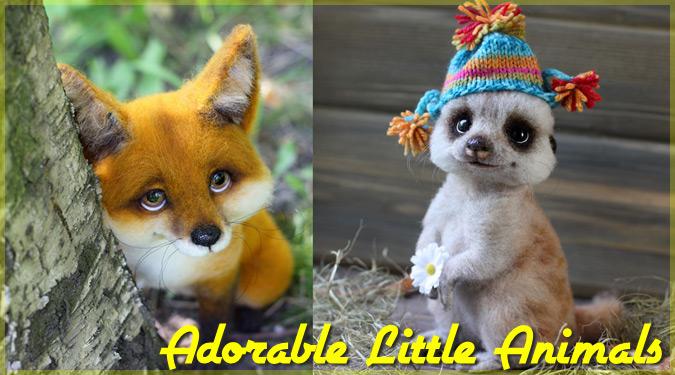 ロシアの羊毛フェルト作家による愛らしい小動物のぬいぐるみ作品