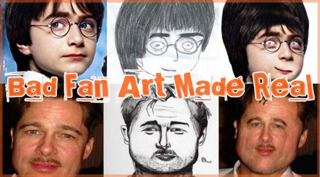 もしもファンの描いた酷いイラストにソックリな有名人がいたら?