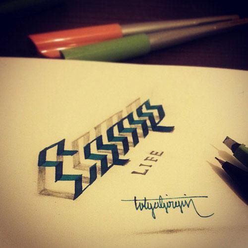 3d-optical-illusion-calligraphy-tolga-girgin-6