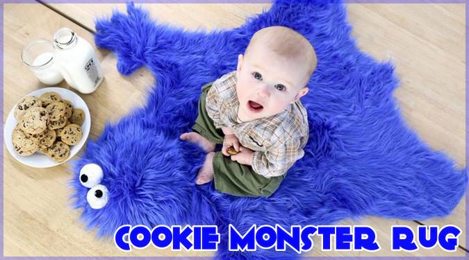 クッキーモンスターの皮を敷物にした奇妙だけど可愛いアイテム!