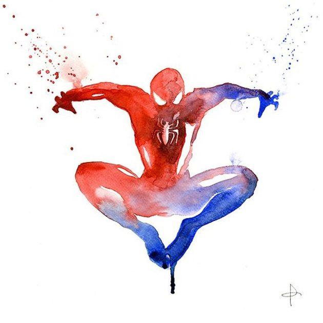 水彩で描いたアメコミヒーロー気持ちが晴れる清々しさ パラリウム