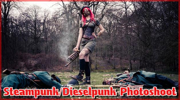 美人外国人によるディーゼルパンクの世界観を再現した写真集