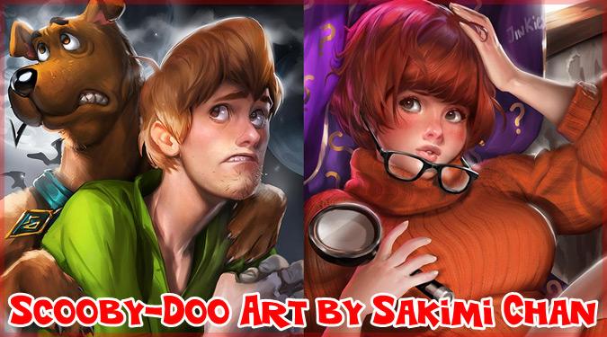 SakimiChanによるスクービー・ドゥーのキャラクターを描いたイラスト集!