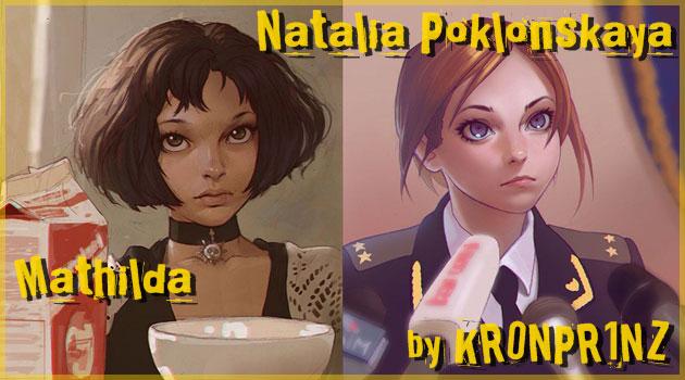 ロシア人が描いた魅力的な女性キャラクターのイラスト作品集