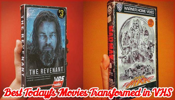 近代の有名映画をVHSカセットテープに再現した味のあるレプリカ集