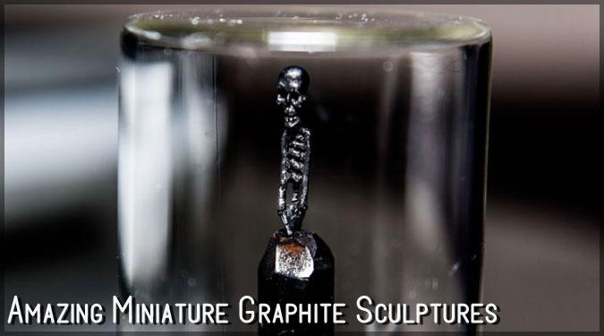 虫眼鏡で覗かなくては堪能できない!小さなグラファイト彫刻集!
