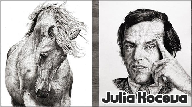 有名人や動物をドットのみで描いた信じられないほど正確な芸術作品