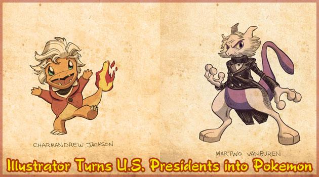 ポケモンとアメリカ合衆国大統領を融合したイラスト集