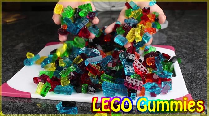 LEGOブロックの形をしたグミの作り方!子どもが喜ぶこと間違いなし!