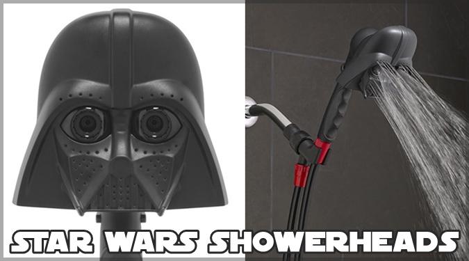 スターウォーズのダースベイダーとR2-D2がシャワーヘッドに大変身!