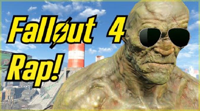 Fallout4のスーパーミュータントがラップするパロディ動画!