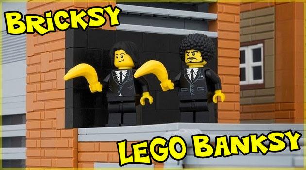 バンクシーのストリートアートをレゴで再現した写真集