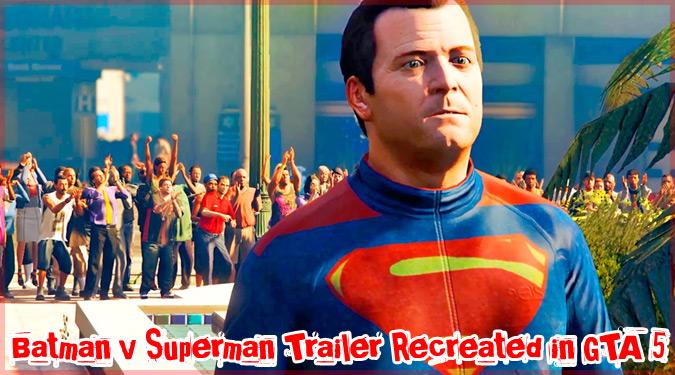 映画「バットマンvsスーパーマン」をGTA5で再現したパロディ動画