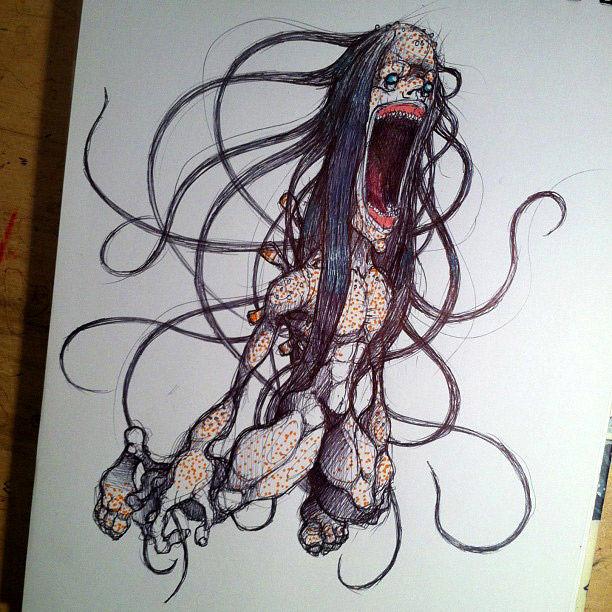monstrous-alien-like-creature-sketchbook-drawing-4