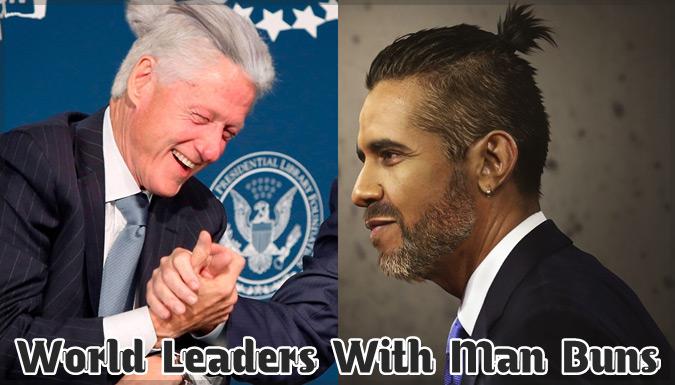 世界の指導者たちのヘアスタイルをお団子ヘアにしたユニークな写真集