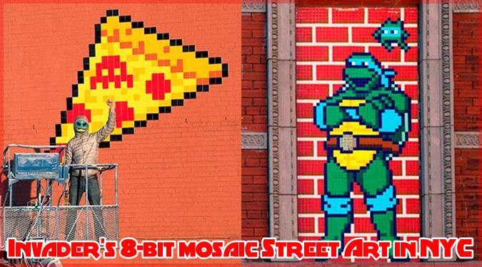 インベーダーによるニューヨークの新作ストリートアート集!