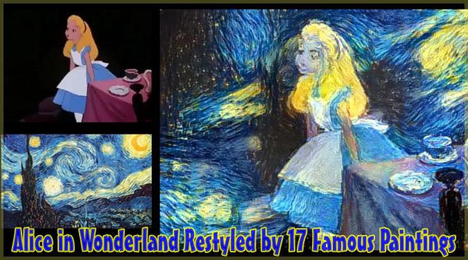 不思議の国のアリスのお茶会シーンを17人の芸術家風に再現した動画!