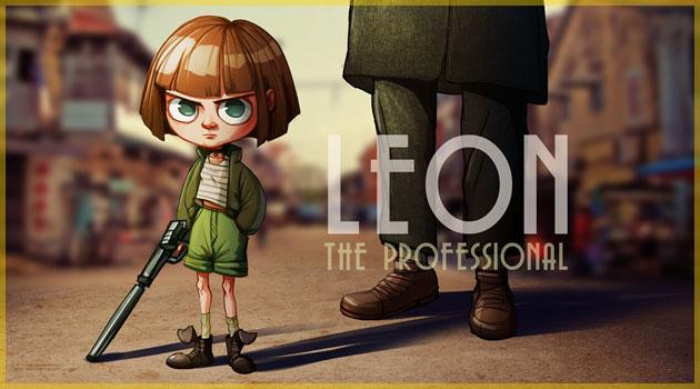 レオンのマチルダをオマージュした可愛いイラスト作品