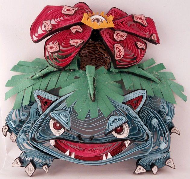 quilled-paper-pokemon-venusaur
