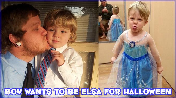 「エルサになりたい!」ハロウィンの仮装で息子の意志を尊重したお父さん