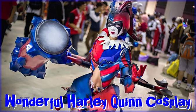 DCコミックVARIANTプレイアーツ改のハーレイ・クインのコスプレ!