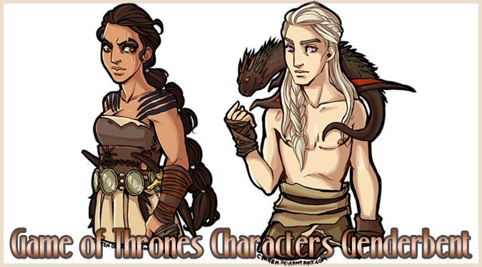 ゲーム・オブ・スローンズのキャラクターの性別を変更したイラスト!