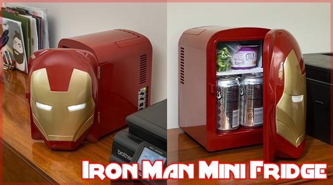 ギークなお部屋にピッタリのアイアンマンのヘルメット型ミニ冷蔵庫!