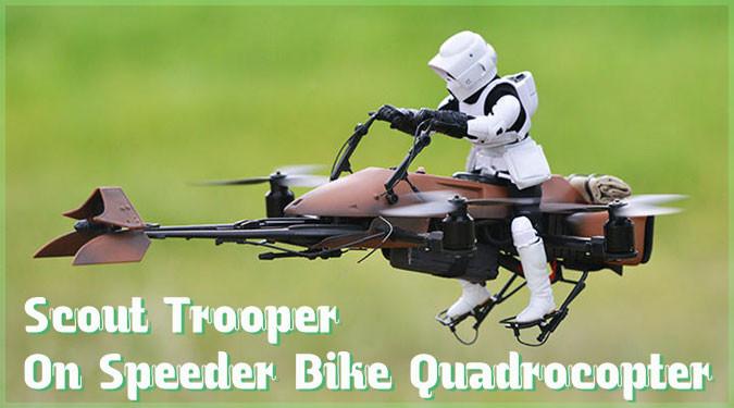 スピーダーバイクに乗るスカウト・トルーパーのドローンが登場!