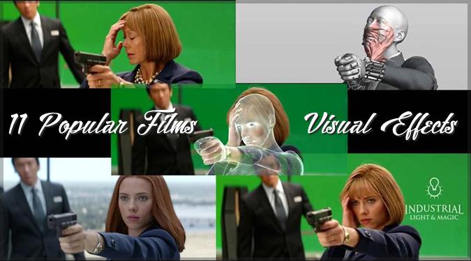 人気映画に視覚効果を適用する前と後の映像を比較した動画集