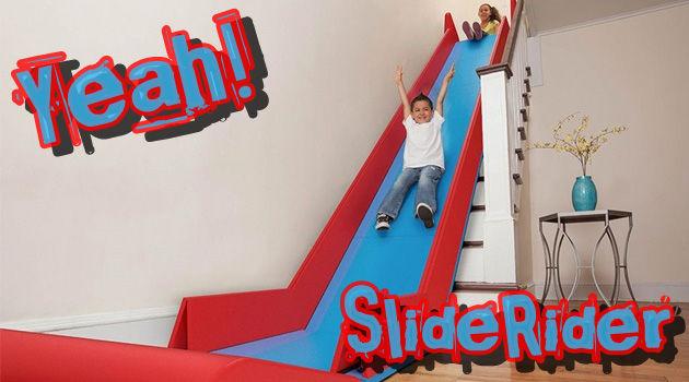 自宅の階段で簡単に滑り台が楽しめるユニークなアイテム!