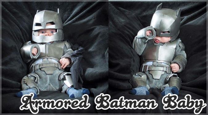 バットマンのアーマースーツを装着した赤ちゃんが可愛すぎると話題に!