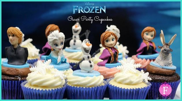 可愛くて美味しそう!アナと雪の女王を再現したカップケーキ