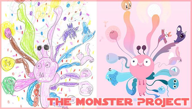 子どもの絵をプロのアーティストが再現した素晴らしいイラスト作品!
