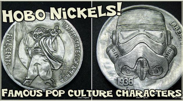 有名なキャラクターが刻み込まれたユニークな硬貨!