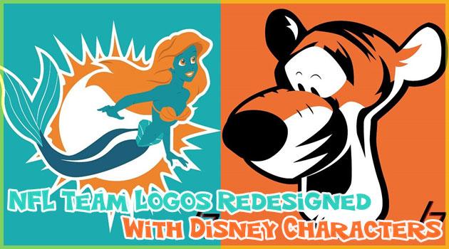 アメフトチームのロゴをディズニーキャラクターにしてみた!