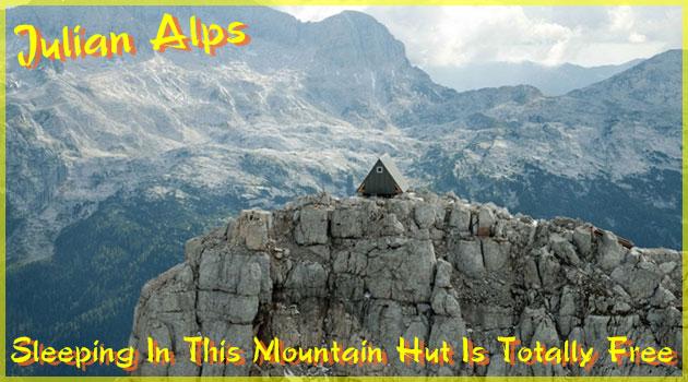 ジュリア・アルプス山脈の2500mの位置に建てられた山小屋