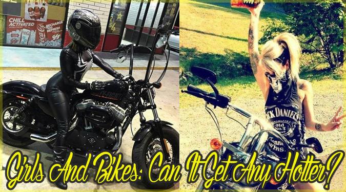 バイクとセクシーな女性たちのカッコいい写真シリーズ