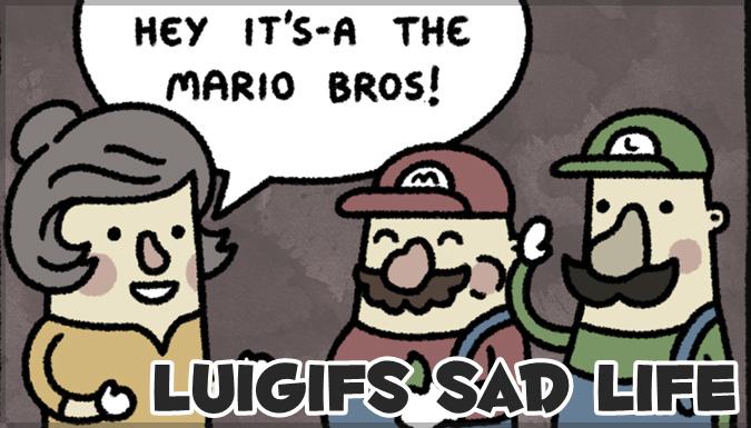 ルイージの悲しい人生を描いた3コマ漫画が心に染みる