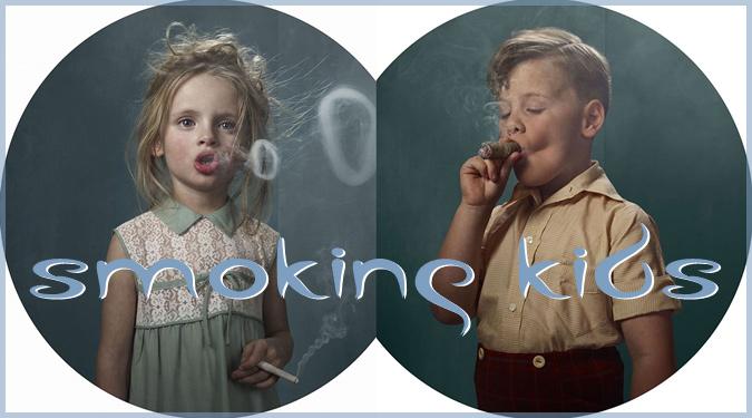 喫煙問題をテーマにしたタバコを吸う子どもたちの写真作品!
