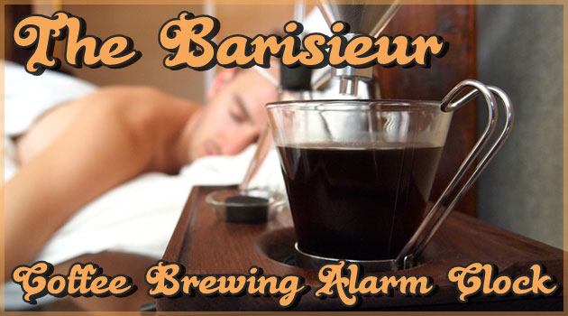 目覚めの一杯を自動で作る!目覚まし時計型コーヒーメーカー