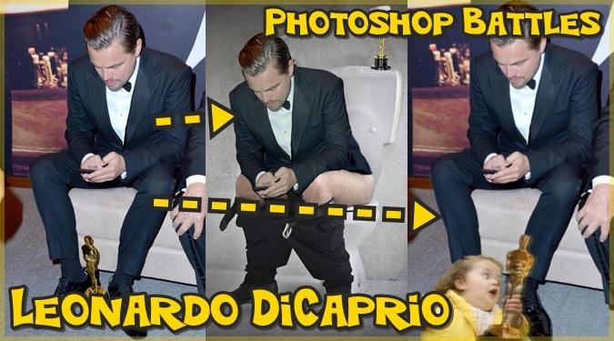 レオナルド・ディカプリオのオスカー受賞後の写真でフォトショップバトル!